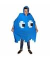 Regenponcho blauw pacman spookje