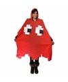 Regenponcho rood pacman spookje