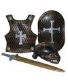Bronzen ridder set 4-delig