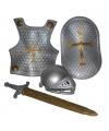 Zilveren ridder set 4-delig