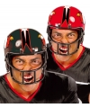 Rode rugby American football helm