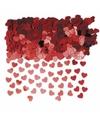 Hartjes confetti rood 10 zakjes