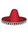Mexicaanse hoed rood voor kinderen 25 cm