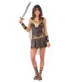 Carnavalskleding gladiator kostuum bruin