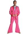 Carnavalskleding Roze 70's kostuum voor heren