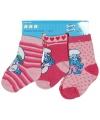 Geboorte kado roze Smurfen sokken
