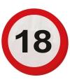 Feestartikelen Servetten verkeersborden 18 jaar