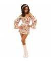 Carnavalskleding Seventies jurkje met hartjes print
