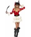 Dames piraten jurkje rood