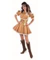 Feestartikelen gouden jurk