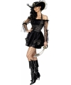 Carnavalskleding Sexy piratenjurkje zwart