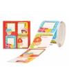 Rood doosje Sinterklaas stickers 50 stuks