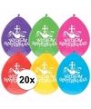 2 zakjes Sinterklaas decoratie gekleurde ballonnen 10 stuks