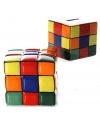 Gekleurde spaarpot kubus 10 cm