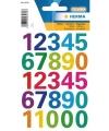 Stickers cijfers kleuren 1 vel