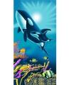 Kinderhanddoek orka met baby x 150 cm