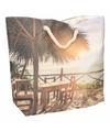 Strand reistas met tropische print type 2