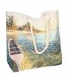 Strand reistas met tropische print type 4