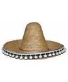 Mexicaanse hoed stro voor kinderen 25 cm