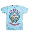 Los Pollos Hermanos blauw shirt Breaking Bad