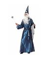 Carnavalskleding Tovenaars kostuum blauw