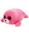 Knuffel dieren roze pluche zeehond Ty Beanie Boo's 15cm