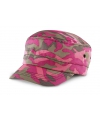 Camouflage caps roze