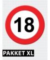 Versiering 18 jaar verkeersbord pakket XL