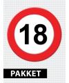 Versiering 18 jaar verkeersbord pakket