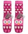Roze uil sokken met gel pads