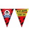 Welkom thuis  versiering waarschuwings vlaggenlijnen 10m