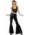 Carnavalskleding Zwart disco kostuum voor dames