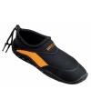 Anti-slip waterschoen voor dames zwart oranje