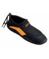 Anti-slip waterschoen voor heren zwart oranje