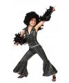 Carnavalskleding Zwarte disco jumpsuit voor kinderen