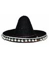 Mexicaanse hoed zwart voor kinderen 25 cm
