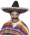 Mexicaanse sombrero zwart luxe